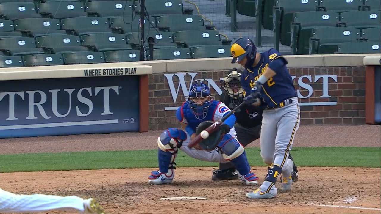 Luis Urias hits a single off of Cubs' reliever Jeremy Jeffress en route to a Brewers win. (Video/Image courtesy of Fox Sports Wisconsin and BehindThePlay on YouTube)